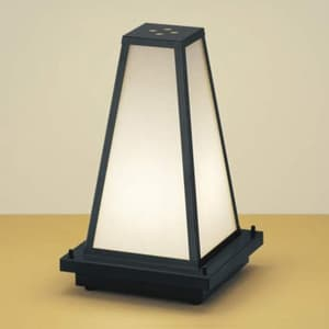 LED和風ガーデンライト LEDランプ交換可能型 屋外用 電球色 口金E17 プラグ付
