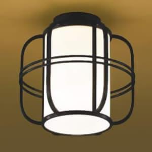 LED和風シーリングライト LEDランプ交換可能型 直付専用 白熱球40W相当 電球色 口金E26 黒色 《民芸シリーズ》
