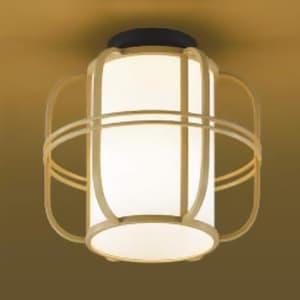 LED和風シーリングライト LEDランプ交換可能型 直付専用 白熱球40W相当 電球色 口金E26 白木色 《民芸シリーズ》