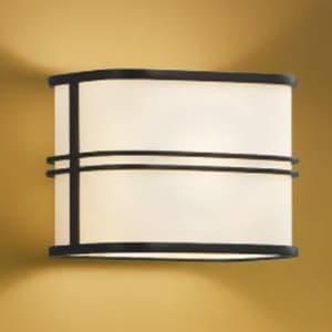 LED和風ブラケットライト LEDランプ交換可能型 壁付専用 白熱球40W相当 電球色 口金E17 黒色 《民芸シリーズ》