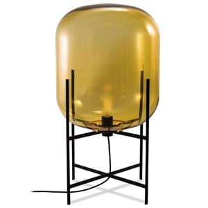 フロアランプ 《ODA S》 40W 白熱シャンデリア球 E17口金 フットスイッチ付 アンバー