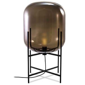 フロアランプ 《ODA S》 40W 白熱シャンデリア球 E17口金 フットスイッチ付 スモーキーグレー