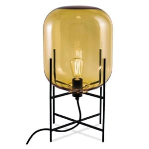 フロアランプ 《ODA M》 60W 白熱レトロ球 白熱普通電球30W相当 E26口金 フットスイッチ付 アンバー