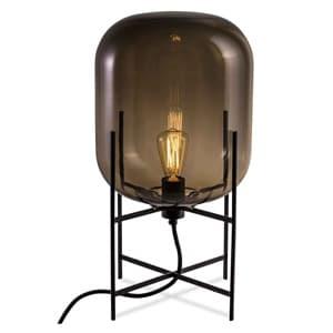 フロアランプ 《ODA M》 60W 白熱レトロ球 白熱普通電球30W相当 E26口金 フットスイッチ付 スモーキーグレー