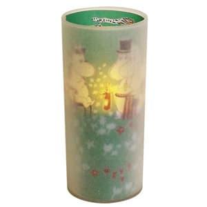 LEDキャンドル 《Cuore moomin LED candle》 電池式 ブロウスイッチ付 グリーン