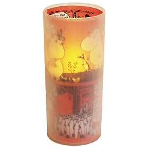 LEDキャンドル 《Cuore moomin LED candle》 電池式 ブロウスイッチ付 ピンク