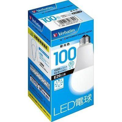 LED電球 一般電球形 100W形相当 広配光タイプ 昼光色 全光束1520lm E26口金 密閉型器具対応
