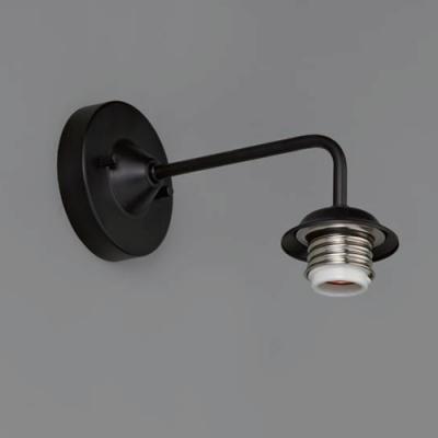 ブラケットライト 〆付けタイプ E26口金 壁面取付専用 黒塗装
