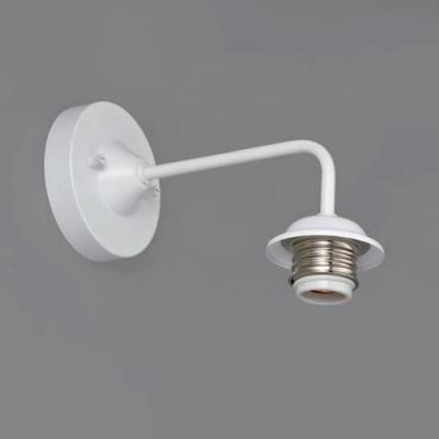 ブラケットライト 〆付けタイプ E26口金 壁面取付専用 白塗装