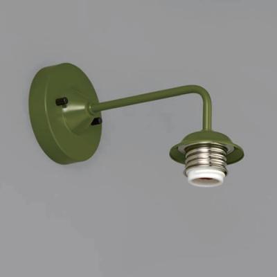 ブラケットライト 〆付けタイプ E26口金 壁面取付専用 緑塗装