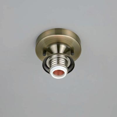 ブラケットライト 〆付けタイプ 直付型 E26口金 天井取付専用 真鍮ブロンズ鍍金