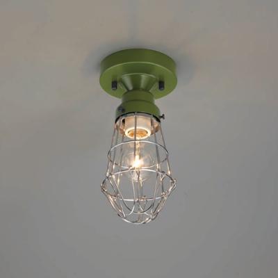ブラケットライト ビス止めガード CL型 電球別売 E26口金 天井取付専用 緑塗装