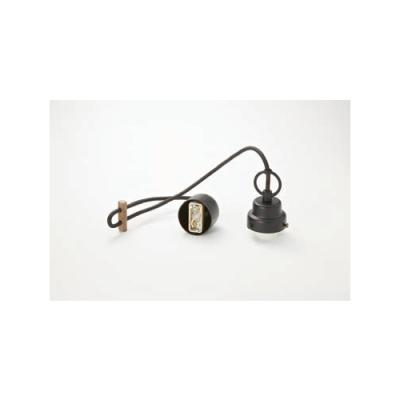 ペンダントライト コード吊具 ビス止めタイプ E26口金 コード長670mm 黒塗装 丸環付