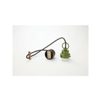 ペンダントライト コード吊具 ビス止めタイプ E26口金 コード長670mm 緑塗装 丸環付