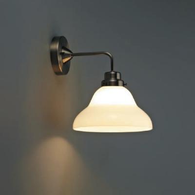 ブラケットライト 《アリエス》 ベルリヤ硝子セード BK型 電球別売 E26口金 壁面取付専用
