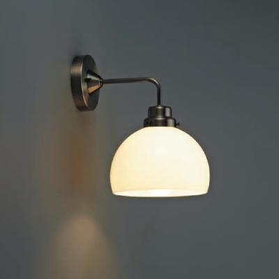ブラケットライト 《オリオン》 鉄鉢硝子セード BK型 60Wホワイトシリカ球付 E26口金 壁面取付専用