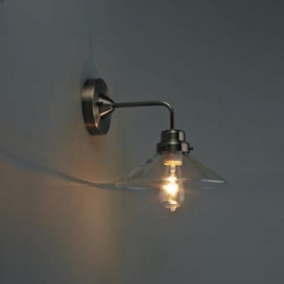 ブラケットライト 《バルゴ》 透明P1硝子セード BK型 電球別売 E26口金 壁面取付専用