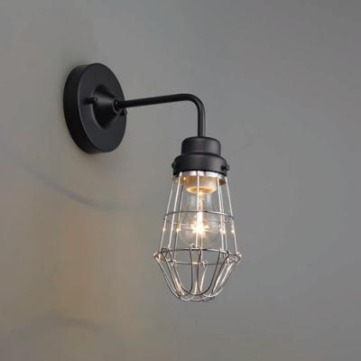 ブラケットライト ビス止めガード BK型 電球別売 E26口金 壁面取付専用 黒塗装
