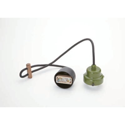 室内用白熱灯照明器具 コード小口ホルダーセット(緑塗装)