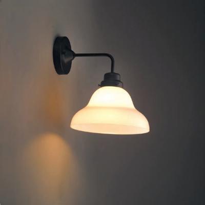 ブラケットライト ベルリヤ硝子セード BK型 電球別売 E26口金 壁面取付専用