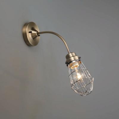 ブラケットライト ビス止めガード 電柱BK型 60Wクリヤー球付 E26口金 壁面取付専用 真鍮ブロンズ鍍金