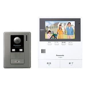 テレビドアホン モニター親機+広角カメラ玄関子機 約5型ワイド液晶 SDカード対応 動画録画機能付