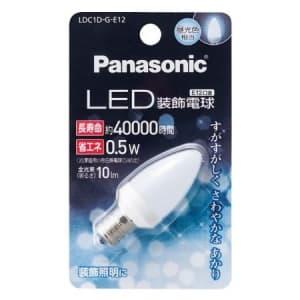 LED装飾電球 C形タイプ 5W相当 昼光色相当 全光束10lm E12口金