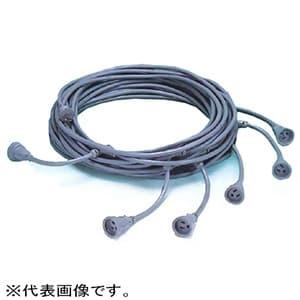 横引用電源ケーブル 電源専用 VCTタイプ 母線3.5㎟×3C 支線2.0㎟×3C 全長25m コネクタ×5個
