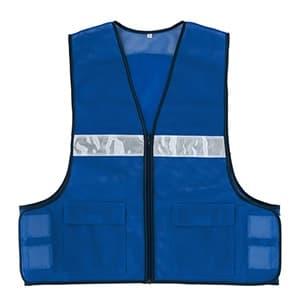 メッシュベスト フリーサイズ ポケット付 ブルー