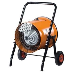 電気ファンヒーター 循環型温風送風機 組立式 三相200V電源 温度調節ダイヤル付 角度調節可能