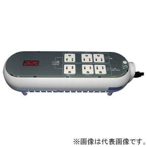 無停電電源装置 テーブルタップタイプ 常時商用給電方式 出力コンセント6個 出力容量300VA/165W