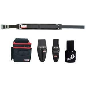 腰道具セット 柱上安全帯用ベルト+腰回り4点セット スライドバックル(鉄) スタンダードタイプ 《ソフトフィット・Shuttoシリーズ》