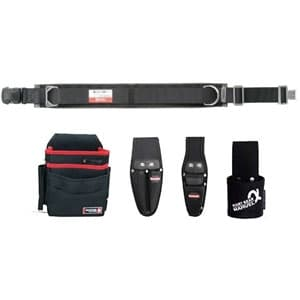 腰道具セット 柱上安全帯用ベルト+腰回り4点セット ワンタッチバックル スタンダードタイプ 《ソフトフィット・Shuttoシリーズ》