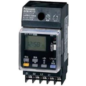 24時間式タイムスイッチ JIS協約型・2P 電子式 高容量15A仕様 1回路型