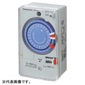24時間式タイムスイッチ ボックス型 クォーツモータ式 AC100-220V用 同一回路