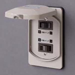 EEスイッチ用階段灯スイッチ B2連型 屋外用 AC300V 10A
