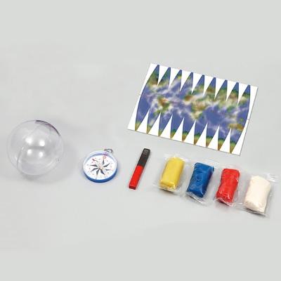 磁石とねんどで内部も再現 地球創造キット