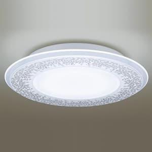 LEDシーリングライト 《AIR PANEL LED》 1枚パネルタイプ 〜12畳用 天井直付型 調光・調色タイプ 昼光色〜電球色 リモコン付 透明・模様入(木々の葉) 4549077789099