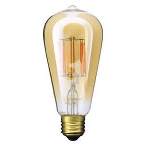 LED電球 《Siphon》 エジソン形 30W相当 全光束400lm 暖系電球色 E26口金 調光器対応