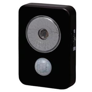 LEDセンサーライト 屋内専用 ハンディタイプ 電池式 白色 ブラック