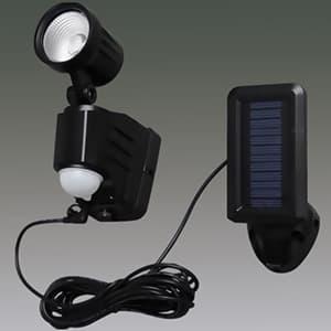 LED防犯センサーライト 屋内・屋外兼用 1灯・ベーシックタイプ IP44 ソーラー式 昼白色