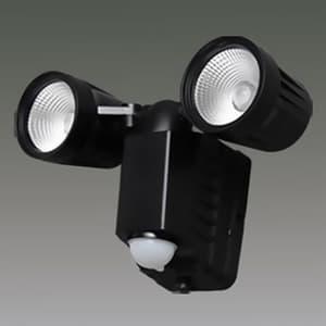 LED防犯センサーライト 屋内・屋外兼用 2灯・高輝度タイプ IP44 電池式 昼白色