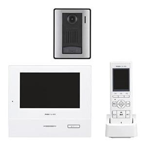 テレビドアホンワイヤレスセット 《ROCOタッチ7》 AC電源直結・タッチパネル式 モニター付親機・子機+充電台+カメラ付玄関子機