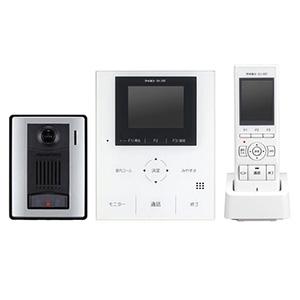 テレビドアホンワイヤレスセット 《ROCOタッチポータブル》 AC電源直結・タッチセンサー式 モニター付親機・子機+充電台+カメラ付玄関子機