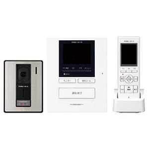 テレビドアホンワイヤレスセット 《ROCOポータブル》 AC電源直結式 モニター付親機・子機+充電台+カメラ付玄関子機