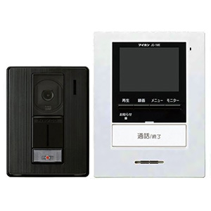 ハンズフリーテレビドアホンセット 《ROCO録画》 AC電源直結式 モニター付親機+カメラ付玄関子機