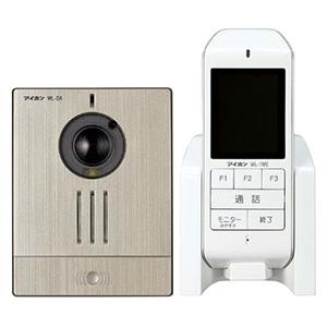 ワイヤレステレビドアホンセット AC電源アダプター式 モニター付親機+カメラ付玄関子機