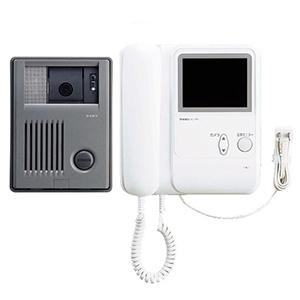 テレビドアホンセット AC電源プラグ式 モニター付親機+カメラ付玄関子機