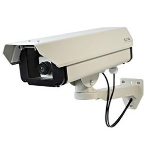 防犯ダミーカメラ 屋外ハウジング型 ロングサイズタイプ 電池式 屋外防雨仕様 赤色LED×1灯
