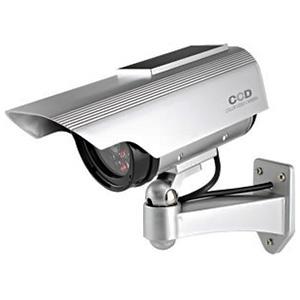 防犯ダミーカメラ ソーラー充電式 軒下防滴仕様 赤色LED×1灯 赤外線暗視タイプ